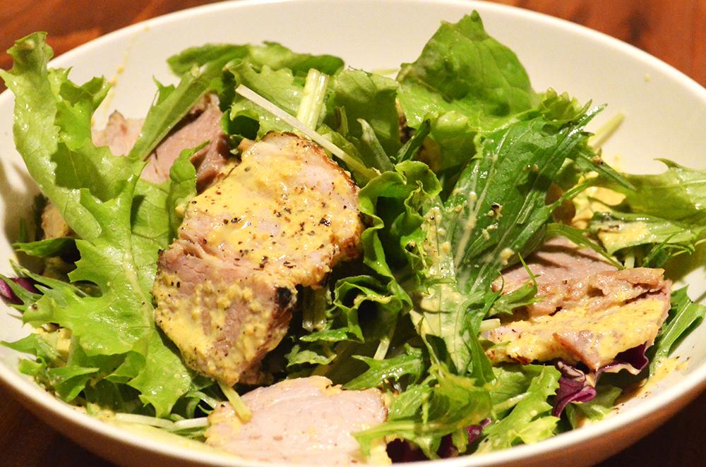 茹で塩豚のサラダ